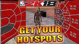 NBA 2K18 - HOW I GOT MY HOTSPOTS BACK IN NBA 2K18