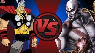 Thor vs Kratos! Cartoon Fight Night Episode 19!