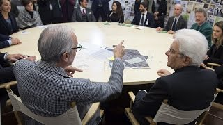 Il Presidente Mattarella con Renzo Piano presentazione progetto G124
