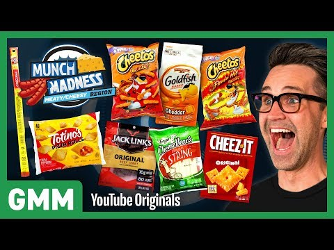 Munch Madness Taste Test Meaty & Cheesy Snacks Ft. Harley Morenstein