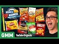 Munch Madness Taste Test: Meaty & Cheesy Snacks Ft. Harley Morenstein