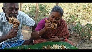 Cooking Full Giriraja Chicken Leg Pieces Gravy in My Village - Sema Taste