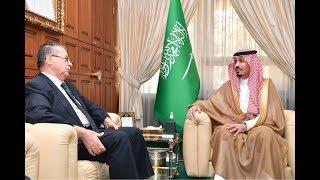 سمو الأمير خالد بن عبدالعزيز بن عياف وزير الحرس الوطني يستقبل سفير دولة فلسطين وسفير جمهورية بولند