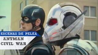 Antman en civil war ESCENAS DE PELEA en español latino