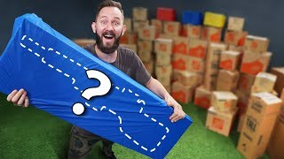 NERF 100 Mystery Box Challenge