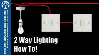 How to wire a 2 way light switch. 2 way lighting explained. Light switch tutorial!