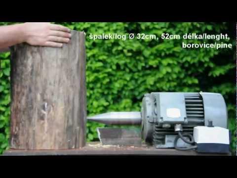 Kuželová štípačka na dřevo D.I.Y. conical log splitter plánky ve videu with plans