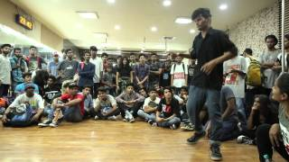solo popping finals @Mumbai HipHop Locals vol 2