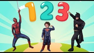 The Numbers From 1 to 10 With Spiderman Batman & Baby Superman