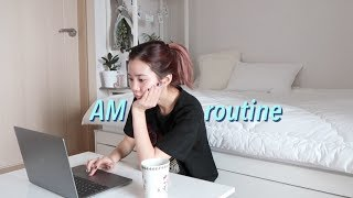My Lazy Day Morning Skincare + Workout Routine in Korea
