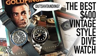 The Best Vintage Inspired Dive Watch Under $400 & Hottest New Brand Of 2018 - Lorier Neptune Review