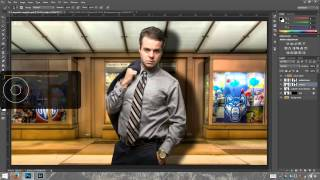 Photoshop cc: Creating a composite in photoshop cc part 3 (highpass filter, drop shadow, lighting ef