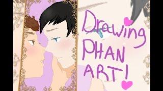 Drawing Phan Art! 💜 With Narration (April Fools 2017)