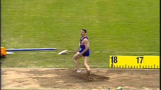 Triple Jump - Jonathan Edwards - World Records (18.16m & 18.29m)