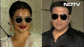 Rekha And Govinda Spotted At Manisha Koirala