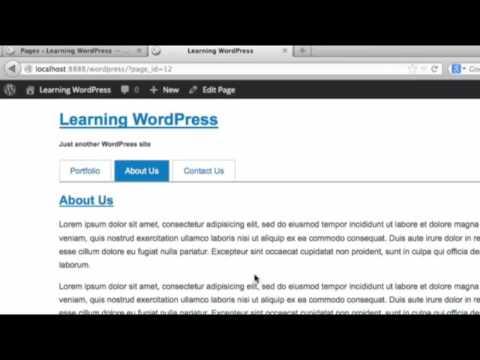 wordpress شرح 2017 template Page Part 1 darija