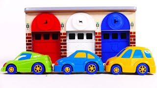 Learn Colors with Car Toy Vehicles and Garage Parking Playset for Kids