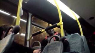the rapping rasta, jamie and toland smashed on a bus