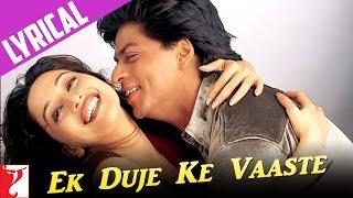 Lyrical: Ek Duje Ke Vaaste Song with Lyrics | Dil To Pagal Hai | Shah Rukh Khan | Anand Bakshi