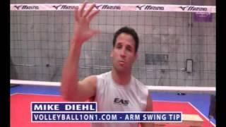Volleyball Arm Swing Spiking and Hitting Technique