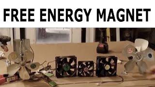 Free Energy Magnet Motor fan usings Free Energy Generator