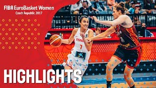 Spain v Belgium - Highlights - Semi-Finals - FIBA EuroBasket Women 2017