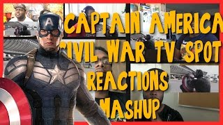 Captain America: Civil War TV Spot #5 Black Panther vs Cap - Reactions Mashup