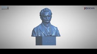 Go!SCAN 3D - skenování busty Leoše Janáčka