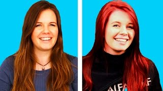 Women Try Red Hair For The First Time