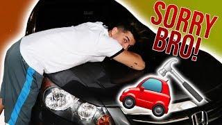 Dropped A Hammer On His Car! *Im Sorry*