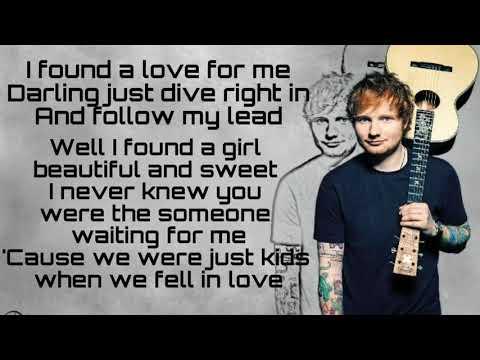 Perfect Ed Sheeran Lyrics
