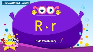 Kids vocabulary compilation - Words starting with R, r - Word cards - review