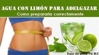 Agua con limón para adelgazar, preparación correcta