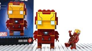 Iron Man Building Lego Block to Brick Headz  - Superhero Fun Animation for Kids