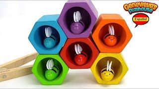 Aprende los Colores con Abejitas de Juguete - Video Educativo para Niños