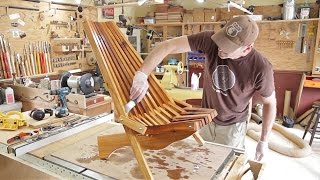 Folding Cedar Lawn Chair / DIY Woodworking Projects