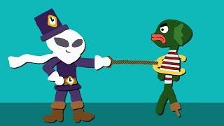 Zombey bekämpft Fischmenschen mit seinem Greifhaken.