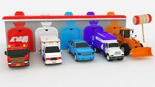 Colors for Children to Learn with Street Vehicles Car Garage Colours for Kids to Learn Videos Cars
