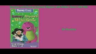 Barney Rhymes with Mother Goose Rare 1998 VHS Opening & Closing