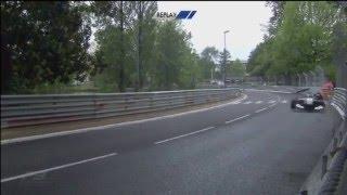 FIA F3 European Championship 2016. Race 2 Pau. Pedro Piquet Crash