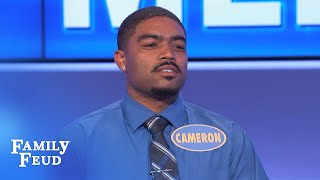 Never tell your WIFE that your MOM does this better! | Family Feud