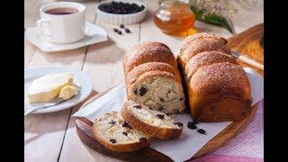 أطيب مذاق للخبز الحلو بالزبيب والقرفة والعسل على طريقة فالنتينا