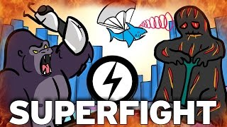 Gorilla V Lava Monster… It's SourceFed Plays Superfight! Pt. 1
