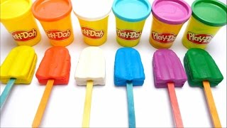 How to Make PlayDoh Ice Cream with Molds Creative for Kids - English Colours Learning