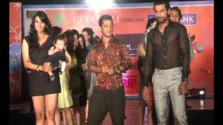 Indraneil And Barkha Walk The Ramp With Daughter