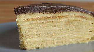 Çikolatalı Krep Pasta Tarifi