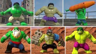Evolution of Hulk (Bruce Banner) in LEGO Marvel Games