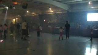 Parents Skating with Young Kids
