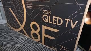 """Samsung Q8FN 75"""" QLED 4K HDR TV Unboxing"""