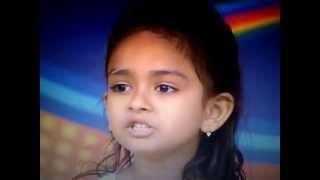 Cute girl Krisha In Indian Idol Junior 2013